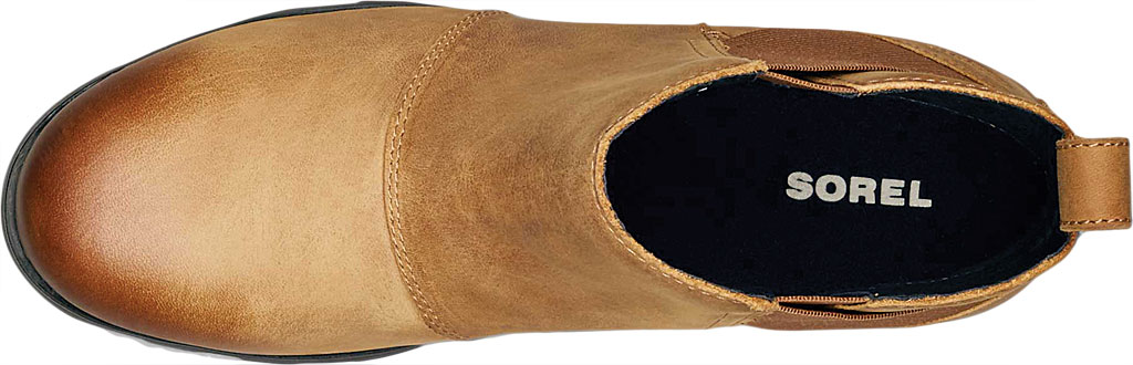 Women's Sorel Emelie Chelsea Bootie, Camel Brown Full Grain Leather, large, image 5