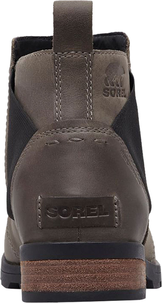 Women's Sorel Emelie Chelsea Bootie, Quarry/Black Waterproof Leather, large, image 3