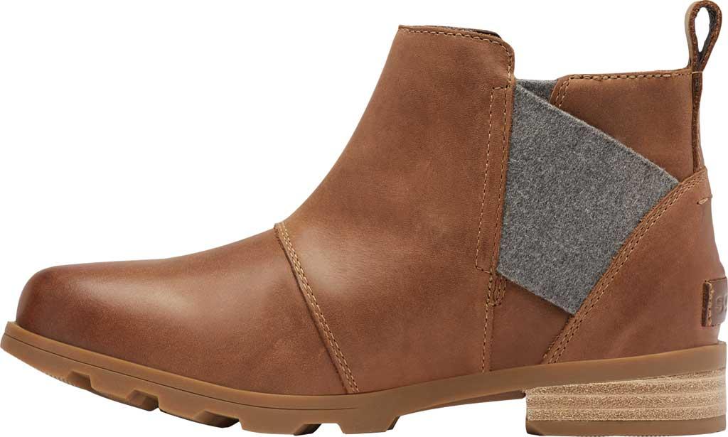 Women's Sorel Emelie Chelsea Bootie, Velvet Tan Waterproof Full Grain Leather/Felt, large, image 3