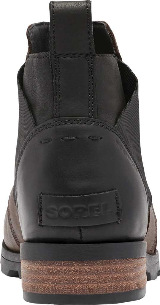 Women's Sorel Emelie Chelsea Bootie, Blackened Brown Waterproof Full Grain Leather/Felt, large, image 4