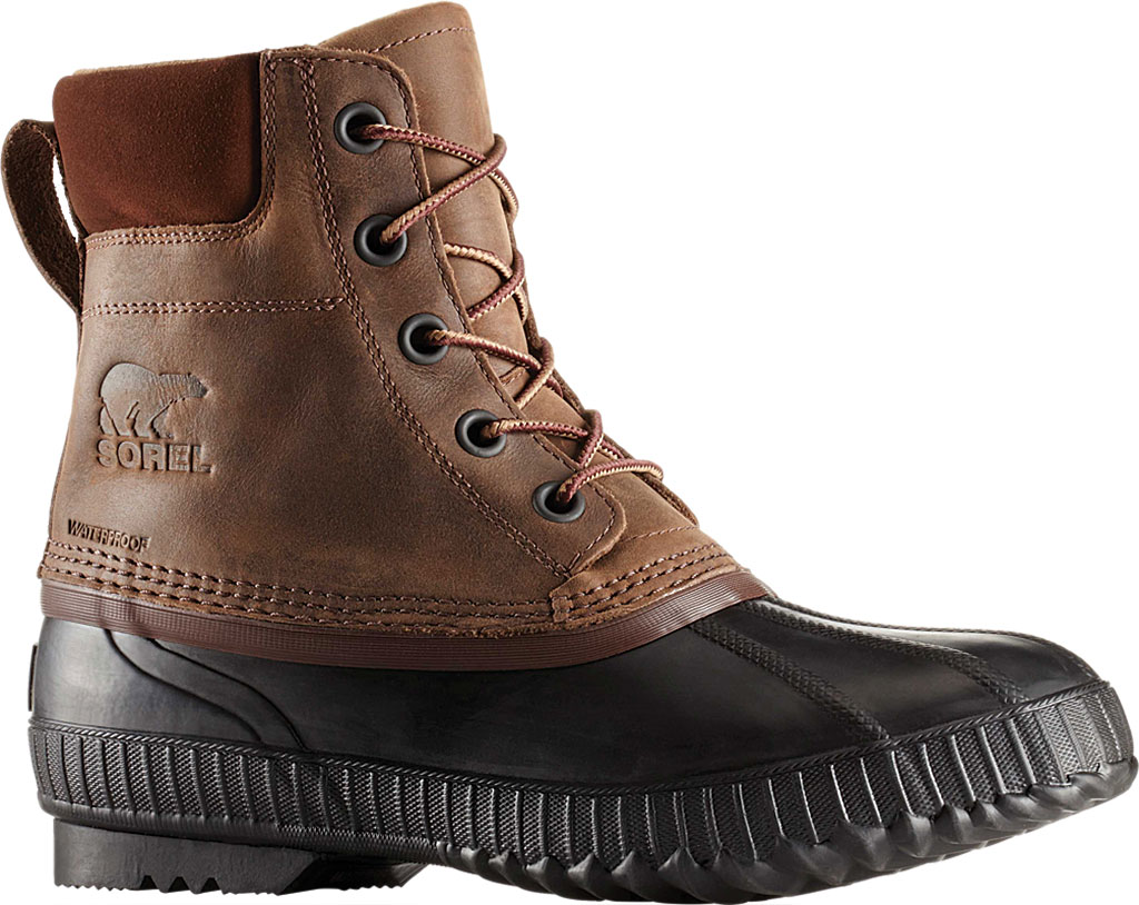 Men's Sorel Cheyanne II Lace Snow Boot, Tobacco/Black Full Grain Leather, large, image 1