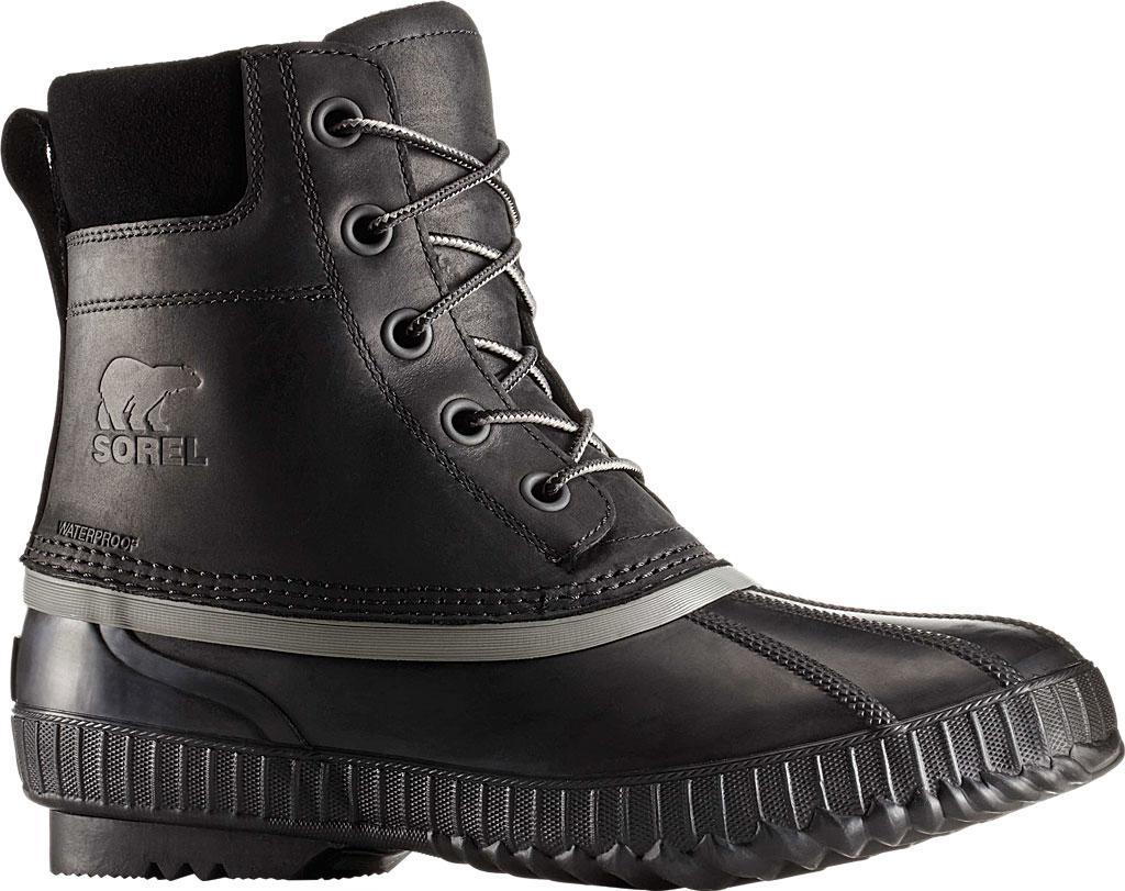 Men's Sorel Cheyanne II Lace Snow Boot, Black/Black Full Grain Leather, large, image 1