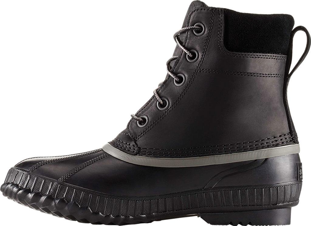 Men's Sorel Cheyanne II Lace Snow Boot, Black/Black Full Grain Leather, large, image 2