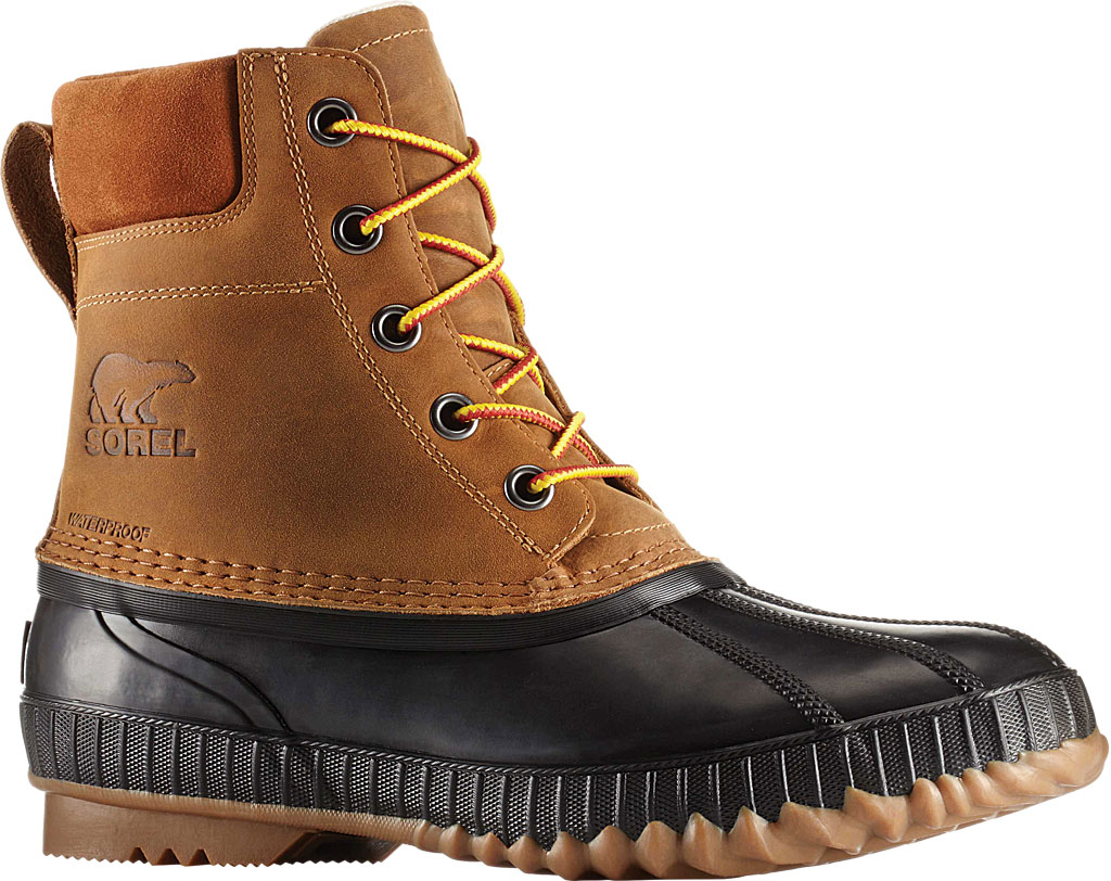 Men's Sorel Cheyanne II Lace Snow Boot, Chipmunk/Black Full Grain Leather, large, image 1