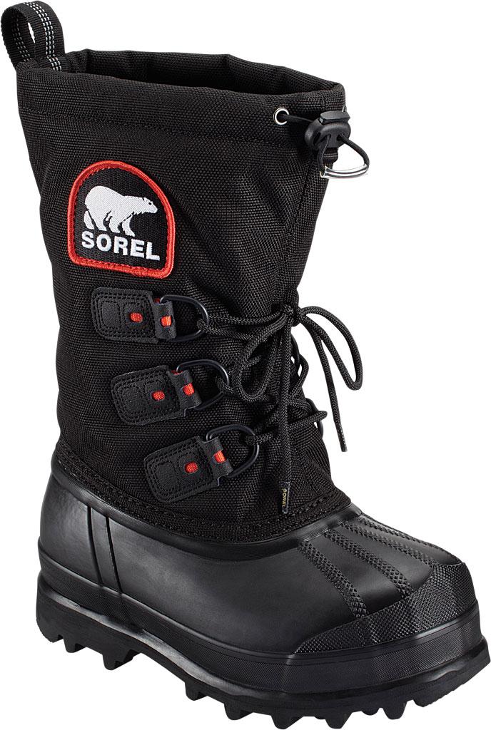 Children's Sorel Youth Glacier II Snow Boot, Black/Red Quartz Synthetic, large, image 1