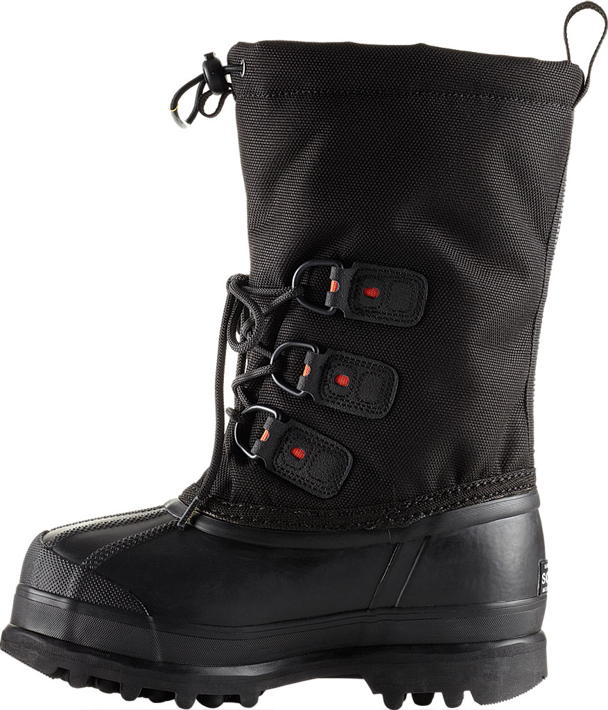 Children's Sorel Youth Glacier II Snow Boot, Black/Red Quartz Synthetic, large, image 2