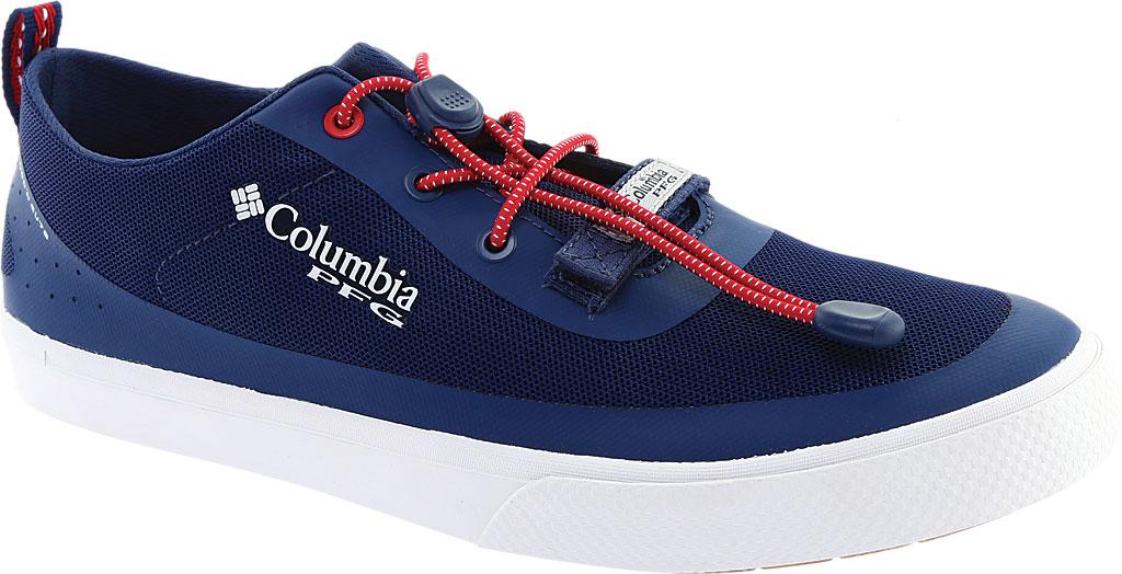 Men's Columbia Dorado CVO PFG Waterproof Sneaker, Carbon/Intense Red, large, image 1