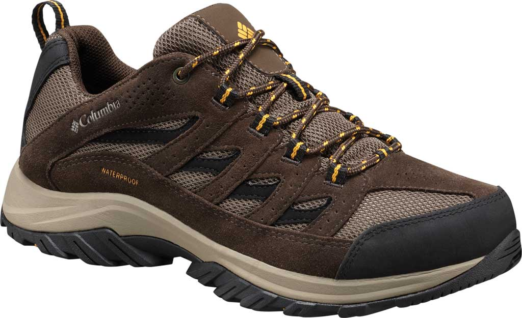 Men's Columbia Crestwood Low Waterproof Hiker, Mud/Squash, large, image 1