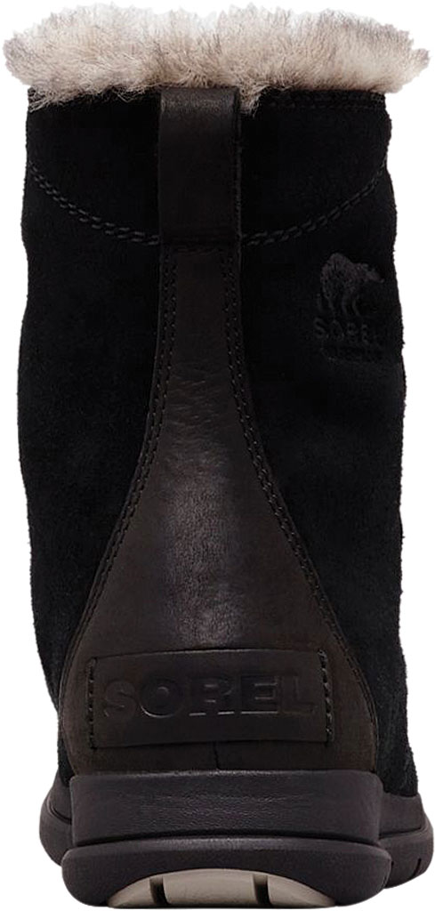 Women's Sorel Explorer Joan Boot, Black/Dark Stone Waterproof Suede, large, image 3