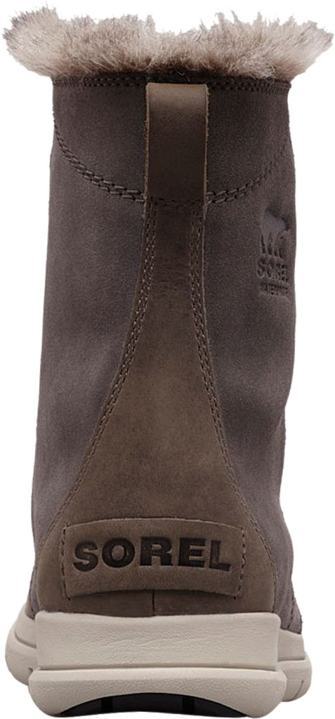 Women's Sorel Explorer Joan Boot, Quarry/Black Waterproof Suede, large, image 3