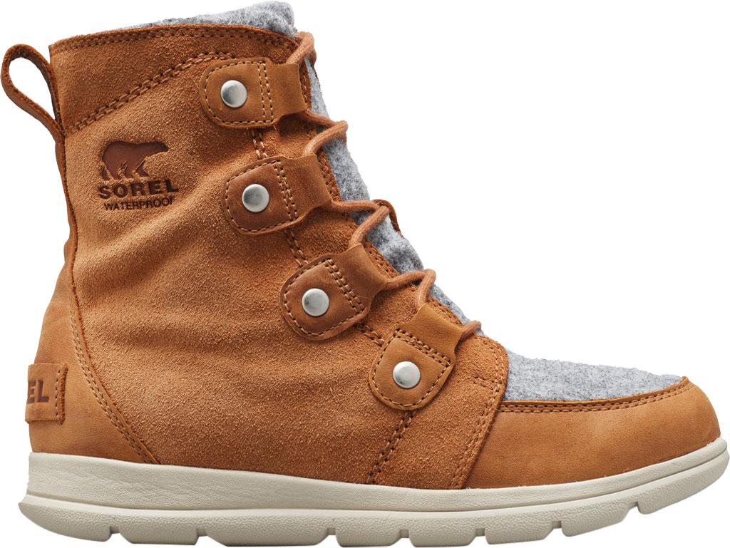 Women's Sorel Explorer Joan Boot, Camel Brown Full Grain Leather/Textile, large, image 1