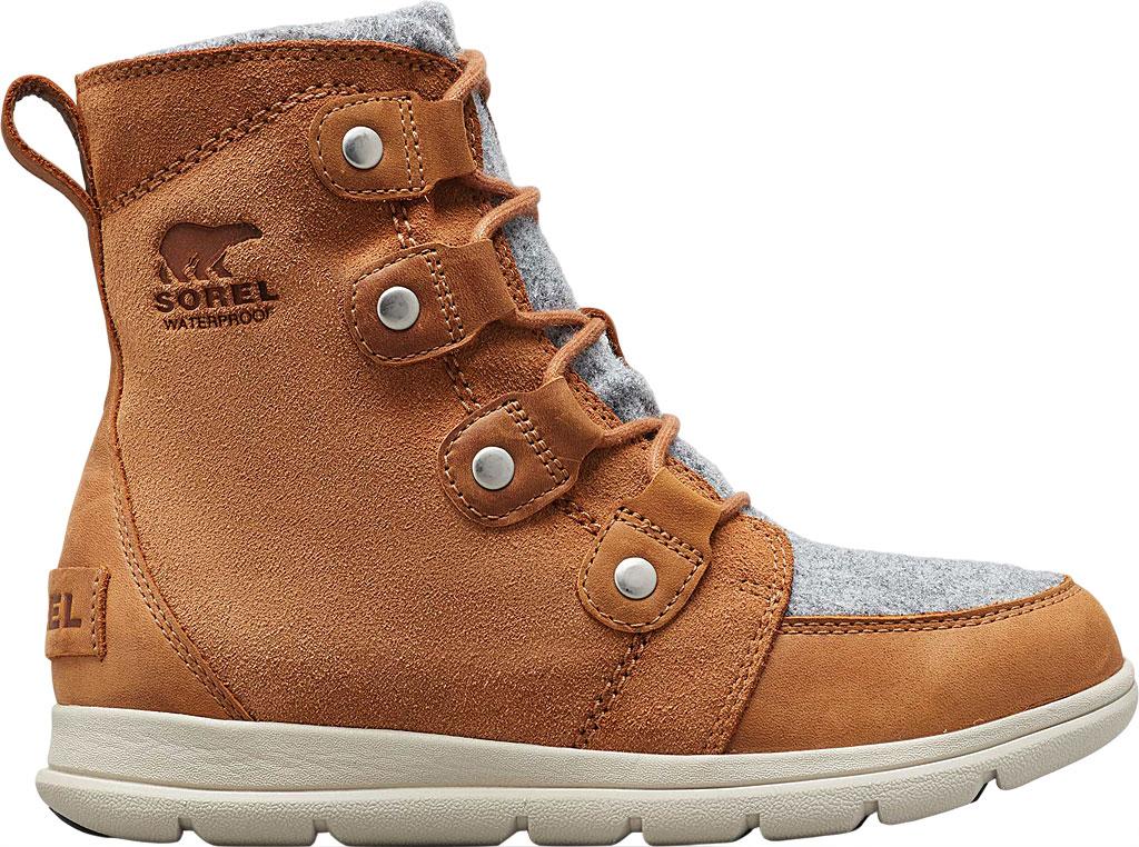 Women's Sorel Explorer Joan Boot, Camel Brown Full Grain Leather/Textile, large, image 2