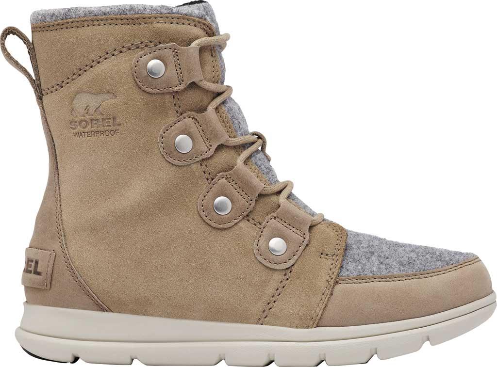 Women's Sorel Explorer Joan Boot, Felt-Khaki II Waterproof Full Grain Leather/Felt, large, image 2
