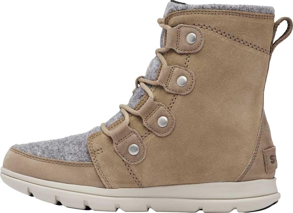 Women's Sorel Explorer Joan Boot, Felt-Khaki II Waterproof Full Grain Leather/Felt, large, image 3