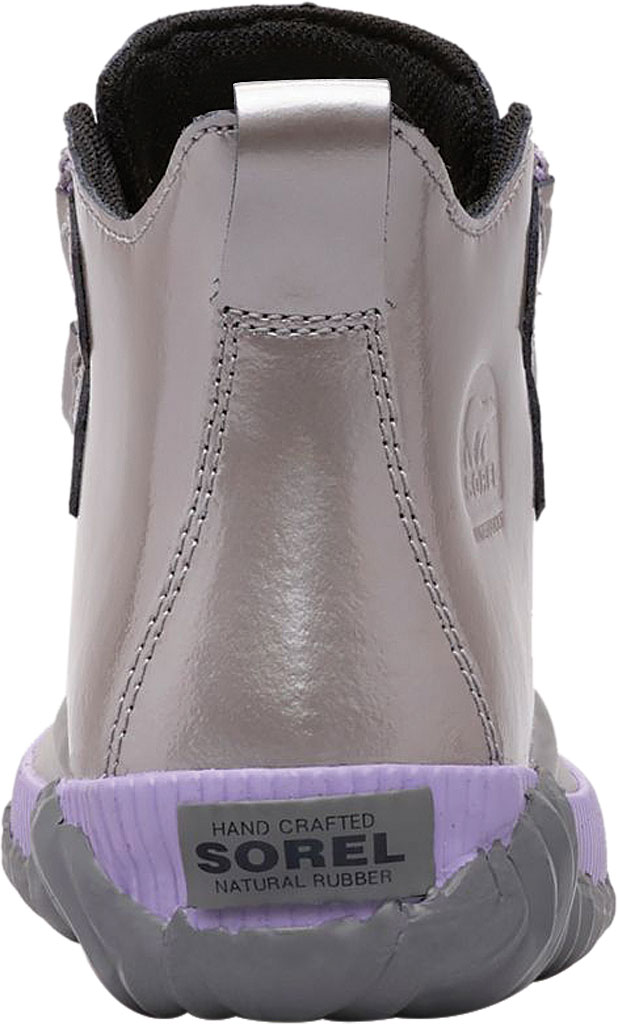 Children's Sorel Youth Out N About Plus Boot, Quarry/Chrome Grey Waterproof Patent Leather, large, image 3