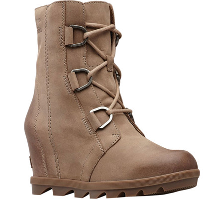 Women's Sorel Joan Of Arctic Wedge II Ankle Boot, Ash Brown Waterproof Leather, large, image 1