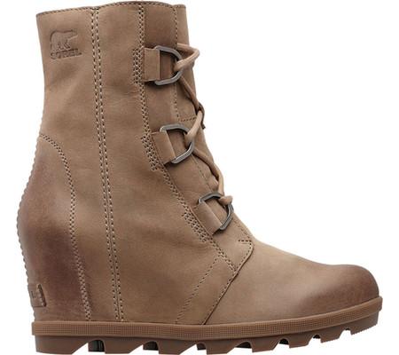 Women's Sorel Joan Of Arctic Wedge II Ankle Boot, Ash Brown Waterproof Leather, large, image 2