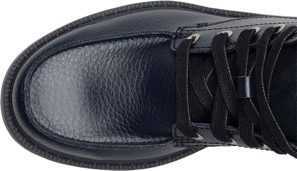 Boys' Sorel Youth Madson Moc Toe Waterproof Boot, Black/Black Polyurethane Coated Leather, large, image 4