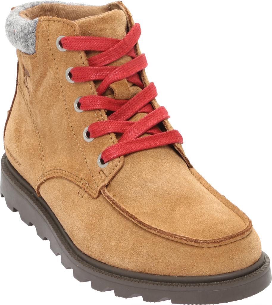 Boys' Sorel Youth Madson Moc Toe Waterproof Boot, Elk Waterproof Suede/Felt, large, image 1