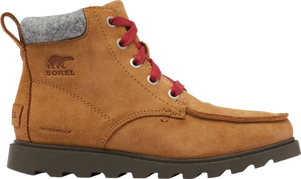 Boys' Sorel Youth Madson Moc Toe Waterproof Boot, Elk Waterproof Suede/Felt, large, image 2
