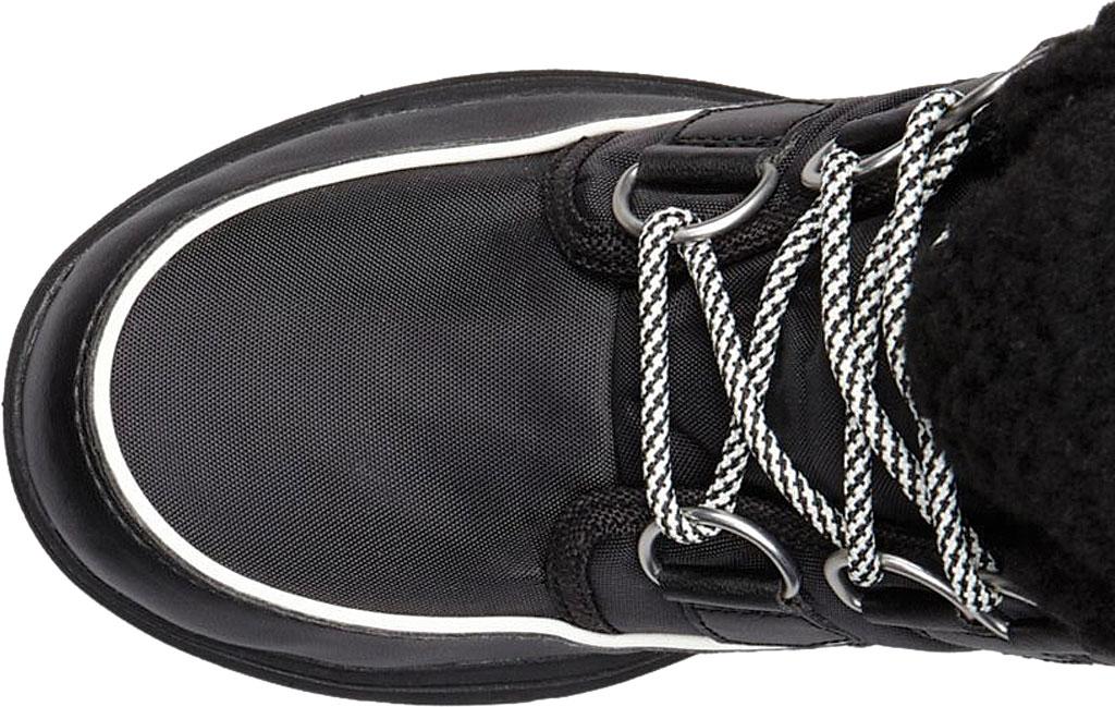 Women's Sorel Explorer Carnival Boot, Black/Sea Salt Waterproof Nylon, large, image 4