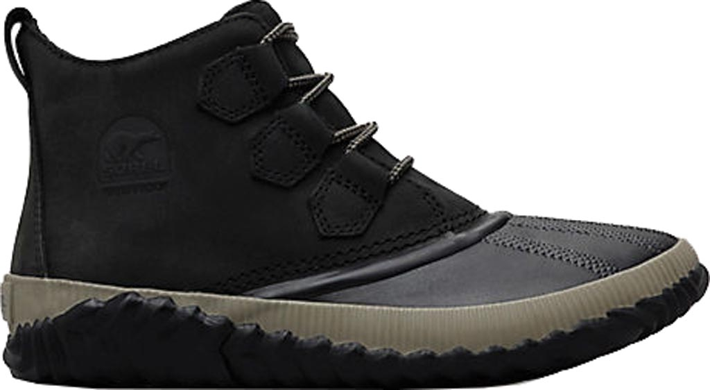 Women's Sorel Out N About Plus Bootie, Black Waterproof Full Grain Leather, large, image 2