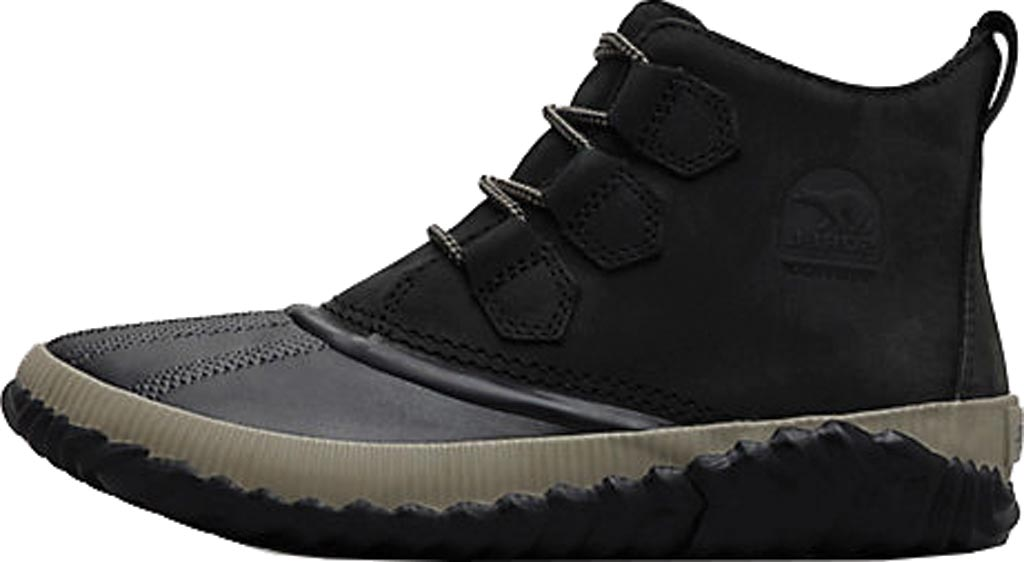 Women's Sorel Out N About Plus Bootie, Black Waterproof Full Grain Leather, large, image 3