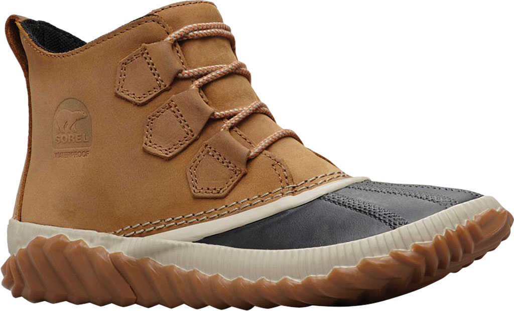 Women's Sorel Out N About Plus Bootie, Elk Waterproof Full Grain Leather, large, image 1