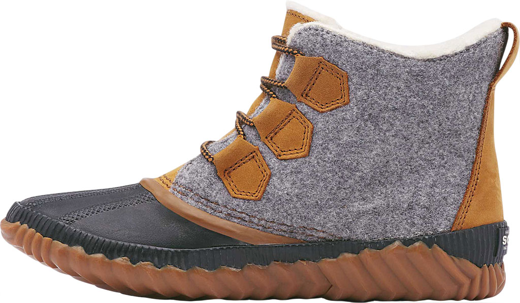 Women's Sorel Out N About Plus Bootie, Quarry Waterproof Leather/Felt/Faux Shearling, large, image 3