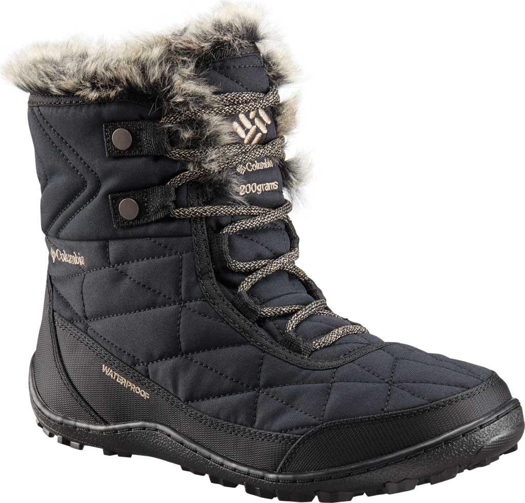 Women's Columbia Minx Shorty III Boot, Black/Pebble, large, image 1