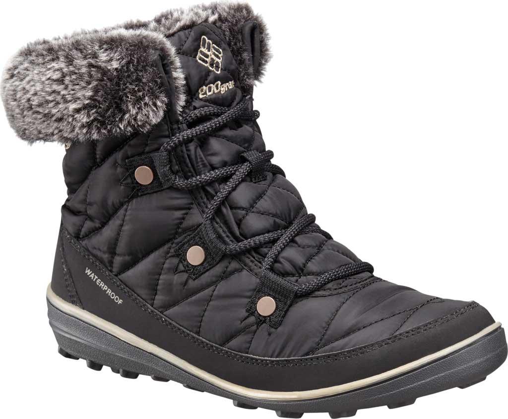Women's Columbia Heavenly Shorty Omni-Heat Boot, Black/Kettle, large, image 1