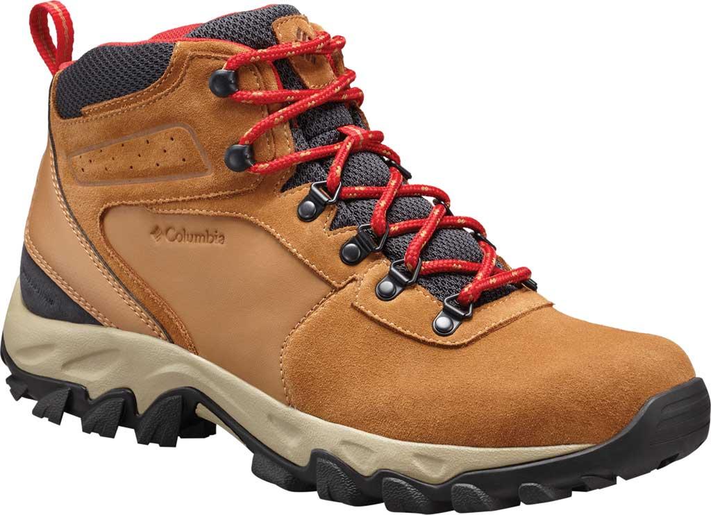 Men's Columbia Newton Ridge Plus II Suede Waterproof Boot, Elk/Mountain Red, large, image 1