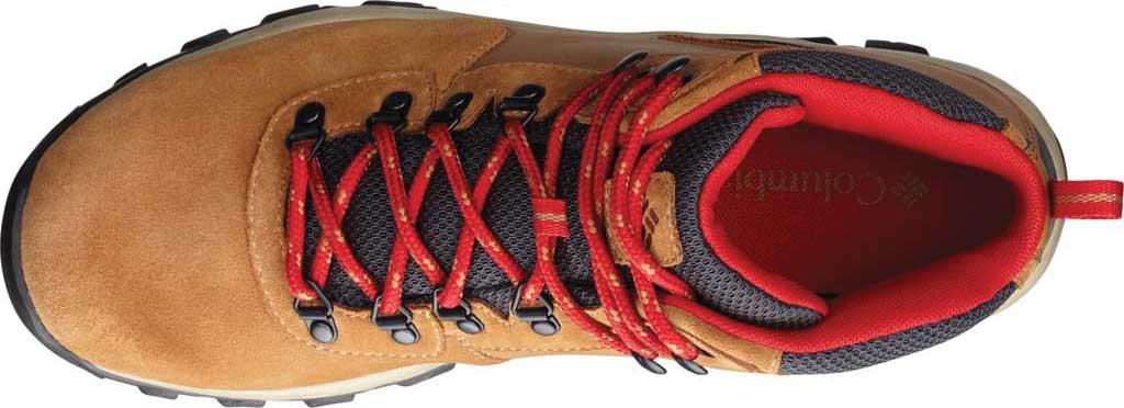 Men's Columbia Newton Ridge Plus II Suede Waterproof Boot, Elk/Mountain Red, large, image 2