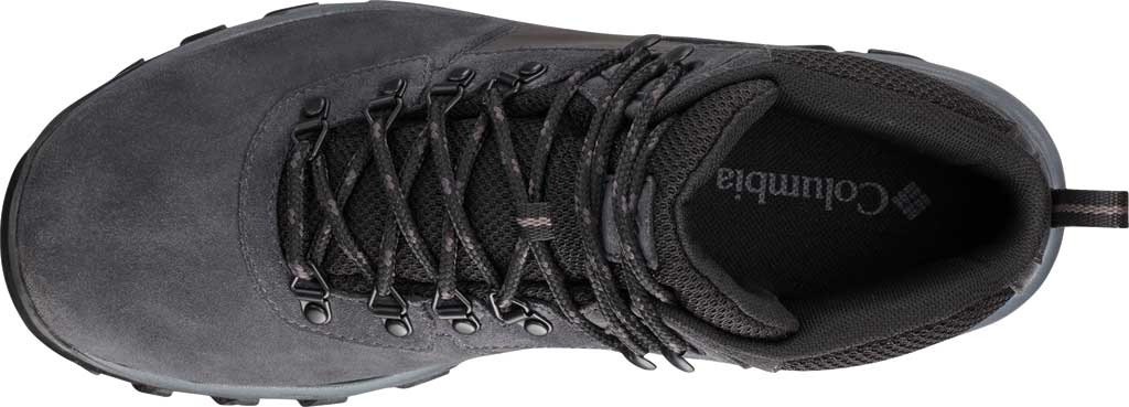 Men's Columbia Newton Ridge Plus II Suede Waterproof Boot, Shark/Black, large, image 2