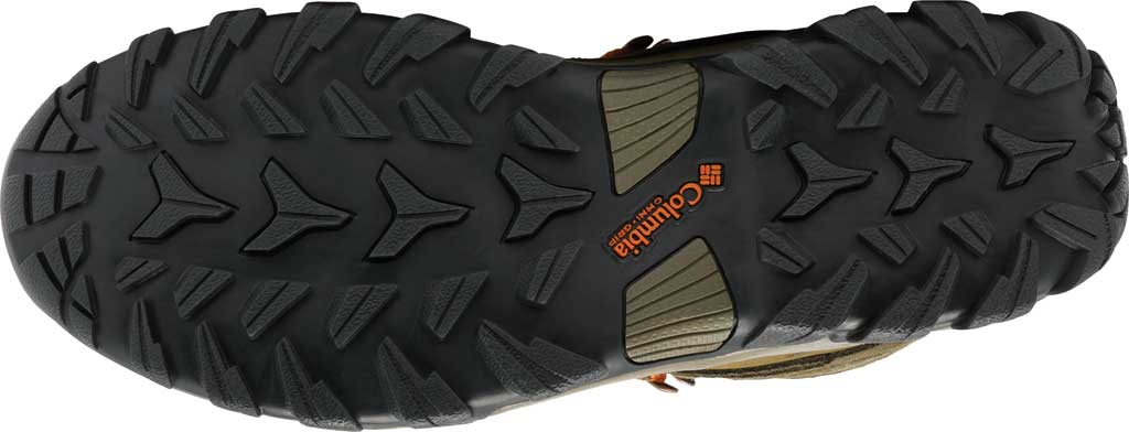 Men's Columbia Newton Ridge Plus II Suede Waterproof Boot, Nori/Light Orange, large, image 5