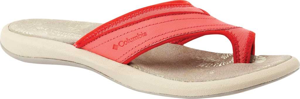 Women's Columbia Kea II Toe Loop Sandal, Red Coral/Cherrybomb, large, image 1