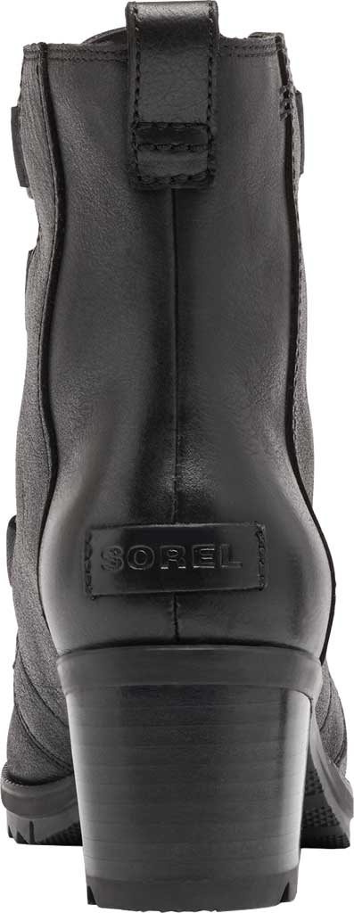 Women's Sorel Cate Lace Up Ankle Bootie, Black Waterproof Full Grain Leather, large, image 4