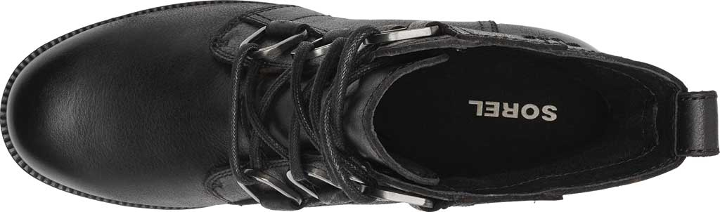 Women's Sorel Cate Lace Up Ankle Bootie, Black Waterproof Full Grain Leather, large, image 5