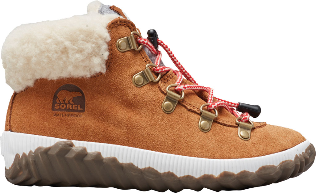 Girls' Sorel Out N About Conquest Waterproof Boot, Camel Brown/Quarry, large, image 1