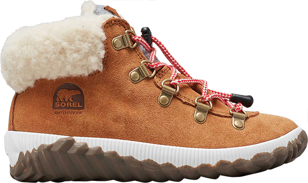 Girls' Sorel Out N About Conquest Waterproof Boot, Camel Brown/Quarry, large, image 2