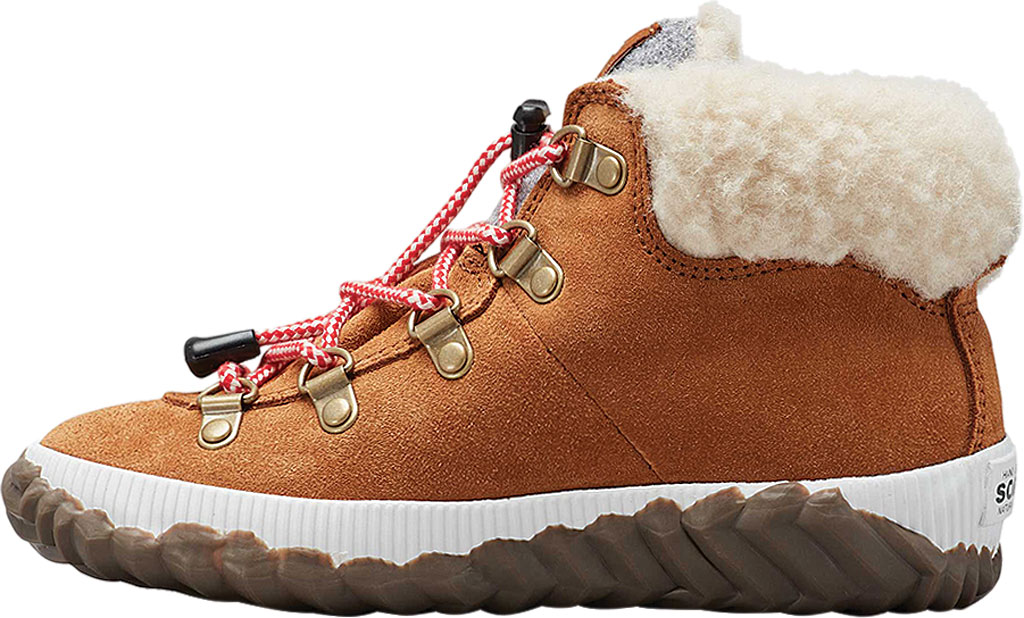 Girls' Sorel Out N About Conquest Waterproof Boot, Camel Brown/Quarry, large, image 3