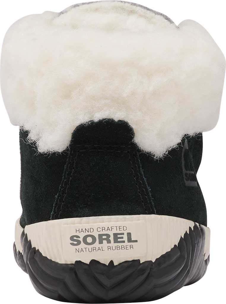 Girls' Sorel Out N About Conquest Waterproof Boot, Black Waterproof Suede/Faux Fur, large, image 4