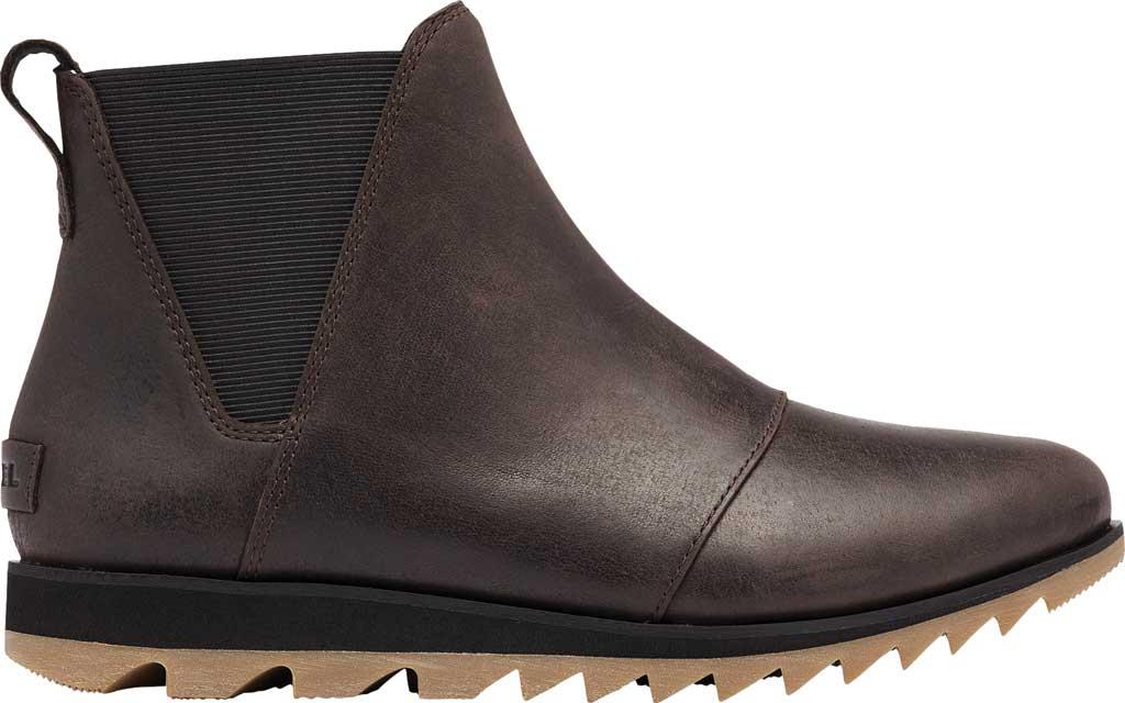 Women's Sorel Harlow Chelsea Boot, Blackened Brown Waterproof Full Grain Leather/Gore, large, image 2