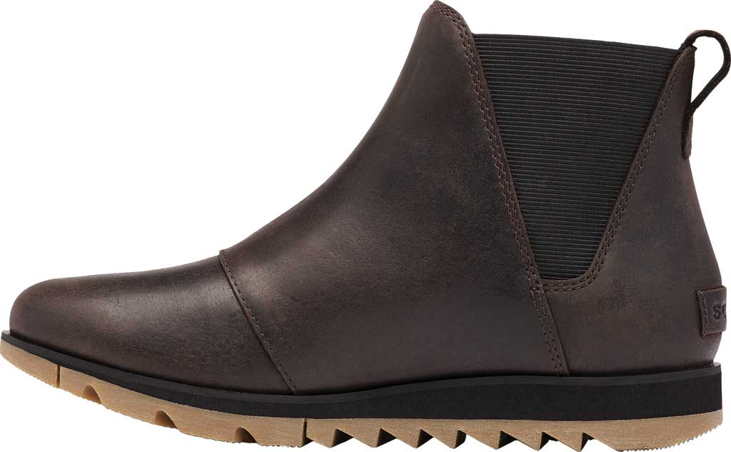 Women's Sorel Harlow Chelsea Boot, Blackened Brown Waterproof Full Grain Leather/Gore, large, image 3