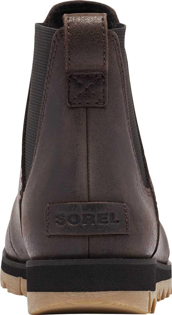 Women's Sorel Harlow Chelsea Boot, Blackened Brown Waterproof Full Grain Leather/Gore, large, image 4