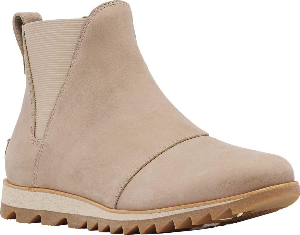 Women's Sorel Harlow Chelsea Boot, Sandy Tan Waterproof Full Grain Leather/Gore, large, image 1