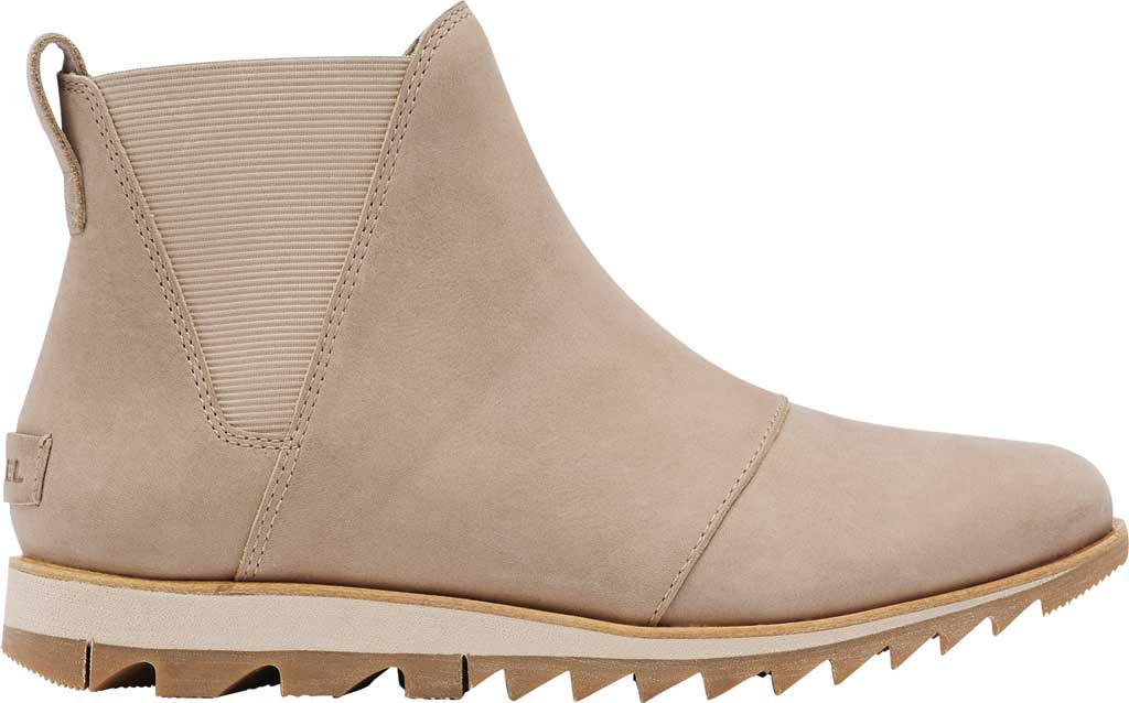 Women's Sorel Harlow Chelsea Boot, Sandy Tan Waterproof Full Grain Leather/Gore, large, image 2