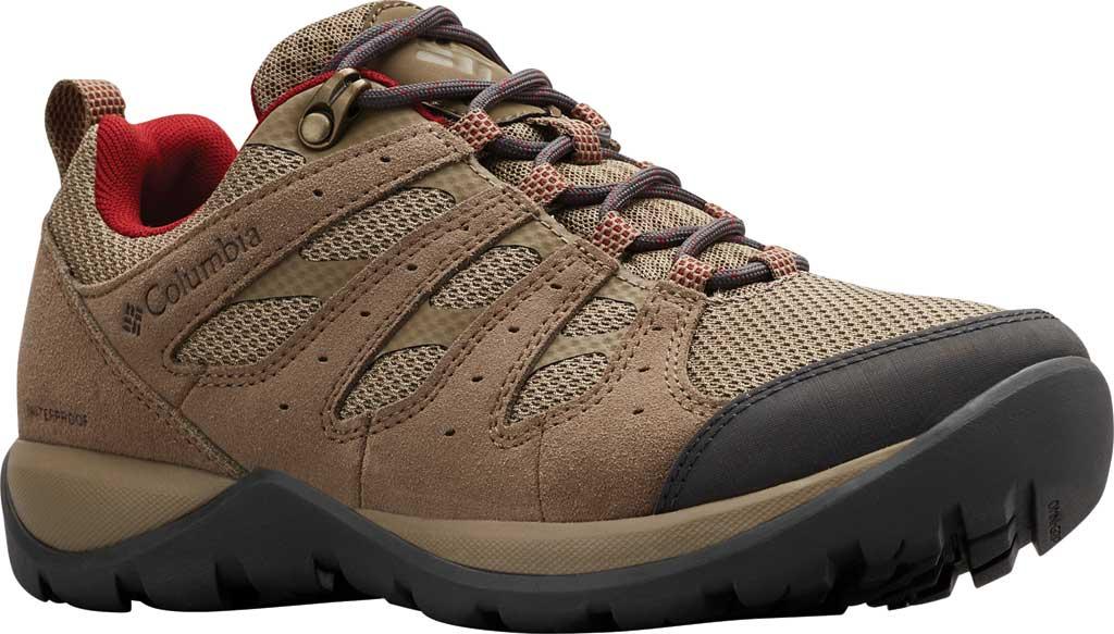 Women's Columbia Redmond V2 Waterproof Hiking Shoe, Pebble/Beet, large, image 1