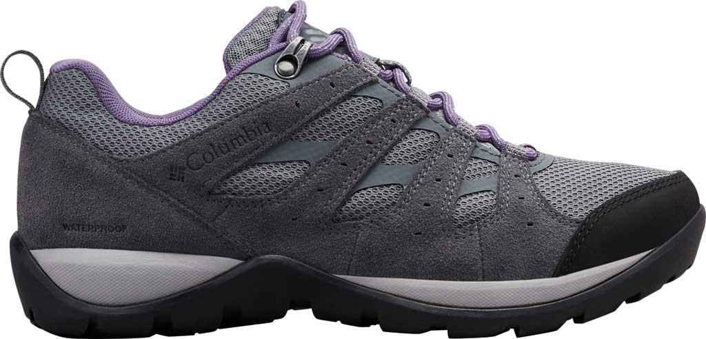 Women's Columbia Redmond V2 Waterproof Hiking Shoe, Ti Grey Steel/Plum Purple, large, image 2