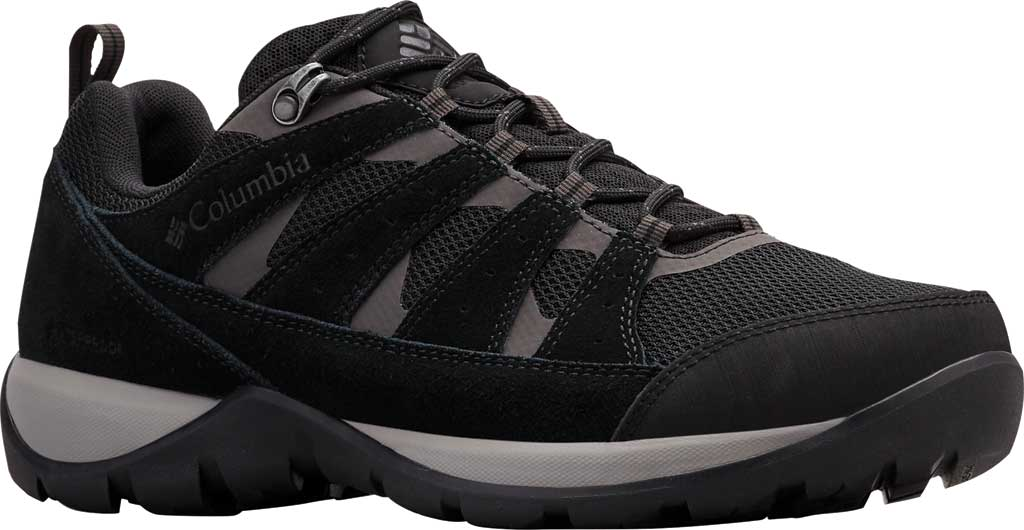 Men's Columbia Redmond V2 Waterproof Hiking Shoe, Black/Dark Grey, large, image 1